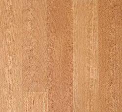 Hårdt og brugervenligt træ, modstandsdygtig overfor tryk. Samtidig er bøg én af de mest følsomme træsorter ved ændringer i indeklimaet (varme, fugt). Overfladen er regelmæssig i farverne lysegul/beige. Tydelige rød/brune åreaftegninger. Den traditionelle træplade, som passer godt overalt. Oprindelse: Nordeuropa. Hårdhed: 8